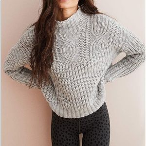 Aerie Cable Mock Neck Sweater